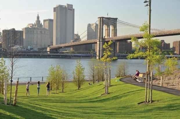 - حديقة جسر بروكلين..