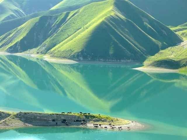 """"""" بحيرة كيزينويام LakeKezenoi """" .. اجمل اماكن السياحة في الشيشان .."""