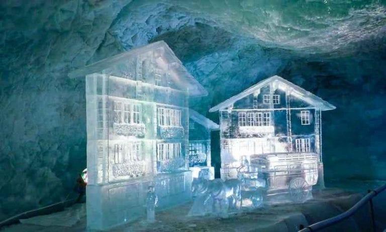 """"""" القصر الجليدى Glacier palace """" .. اهم معالم السياحة في زيرمات .."""