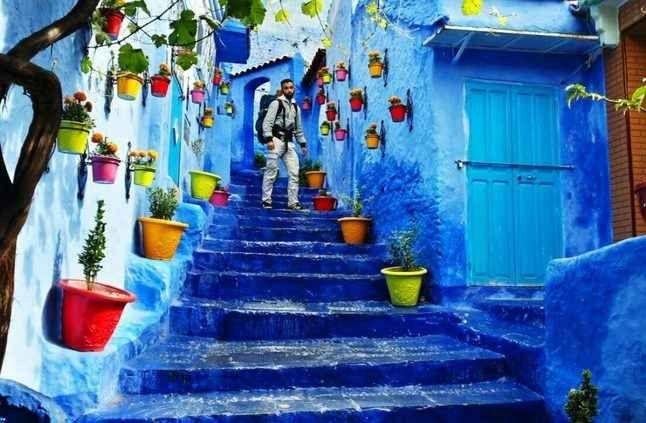 """شفشاون""""المدينة الزرقاء""""..أجمل الوجهات السياحية بالمغرب..."""
