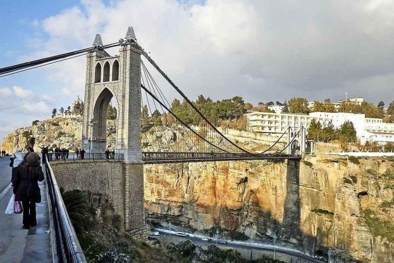""""""" الجسور المعلقةSuspension bridge in Constantine """" .. اهم معالم السياحة في قسنطينة .."""