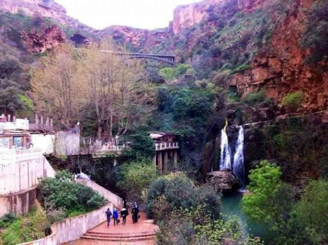 """"""" شلال الأوريت El-Ourit Waterfalls"""" .. اجمل اماكن السياحة في مدينة تلمسان .."""