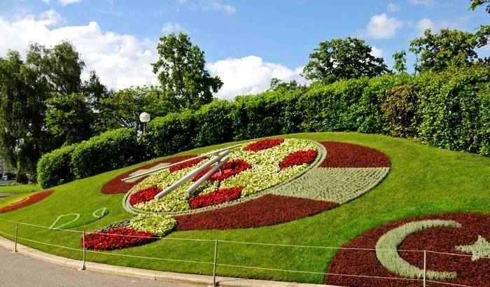 منتزه الحديقة الانجليزية في جنيف بسويسرا
