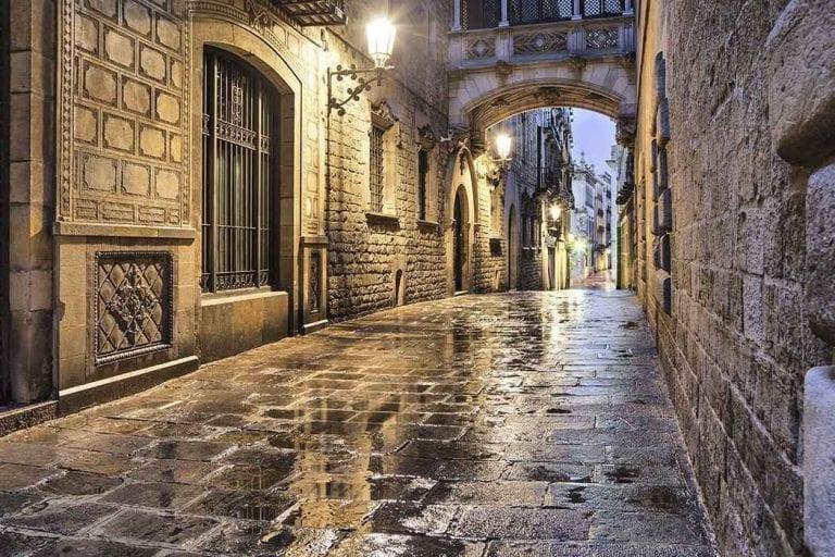 الحى القوطى فى برشلونة