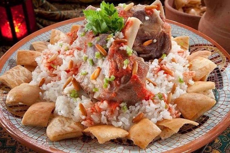 الفتة - الأكلات المشهورة في مصر Egypt