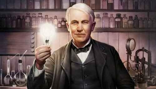 اختراعات توماس إديسون- المصباح الكهربائي