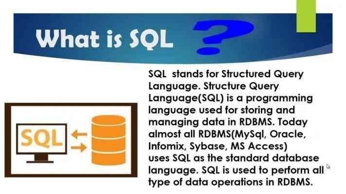 ما هي لغة البرمجة sql - معلومات عن لغة البرمجة sql