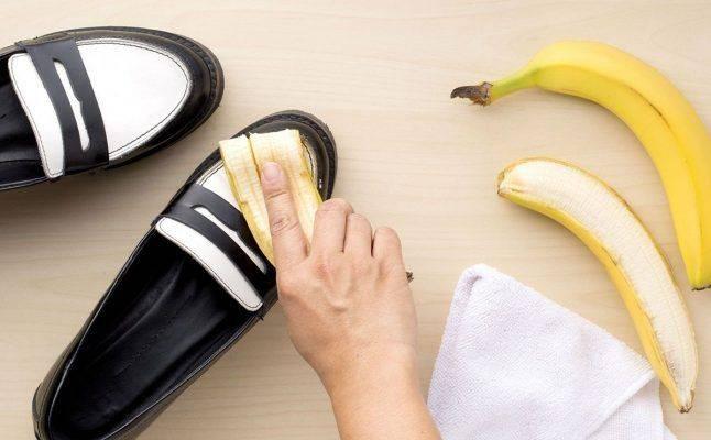 استخدامات قشر الموز لتلميع الأحذية