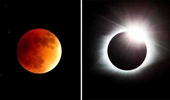 كيف يكون خسوف القمر