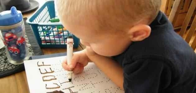تعليم كتابه الحروف عن طريق الطعام - افكار لكتابة الحروف