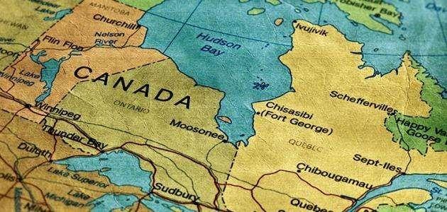 المسافة من كندا إلى أقرب البلدان المجاورة لها
