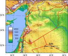 المسافة بالكيلومترات بين بعض المدن السورية