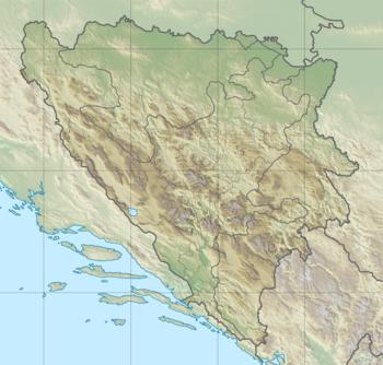 المسافات بين مدن البوسنة والهرسك