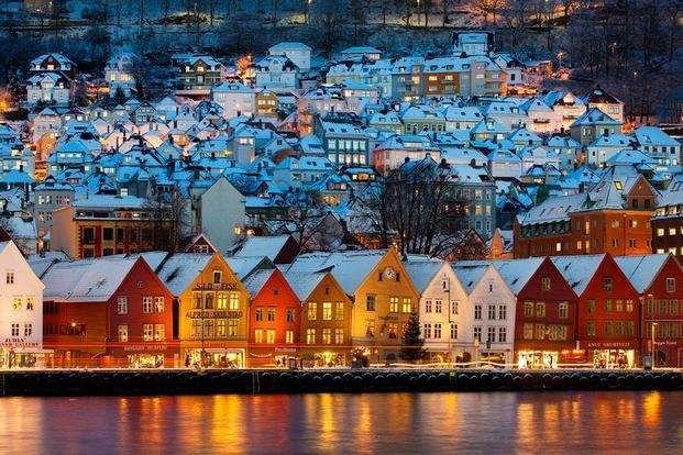 المسافه بين مدن بيرغن- المسافات بين مدن النرويج