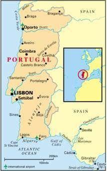 المسافات بين مدن البرتغال