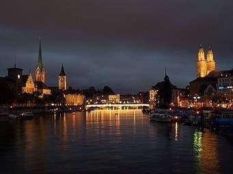 بعض المدن السويسرية