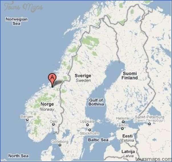 المسافات بين مدن النرويج