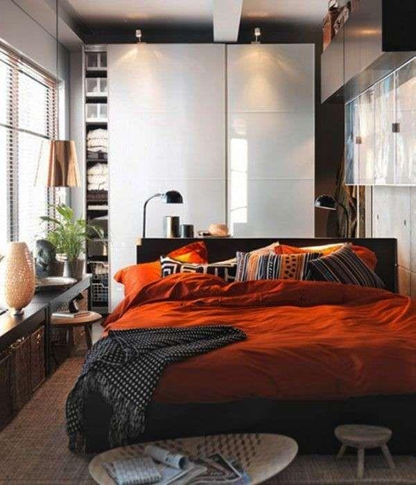 ترتيب غرفة النوم الصغيرة