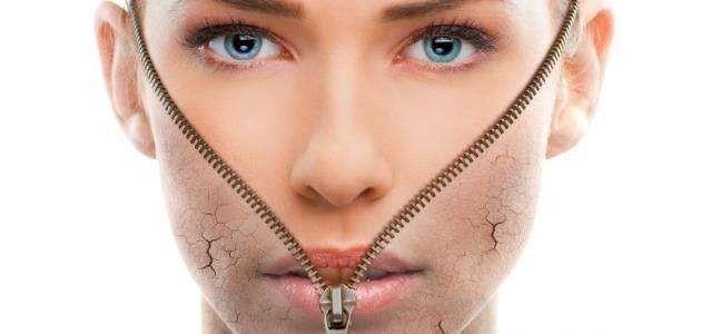 علاج البشرة الجافة المقشرة