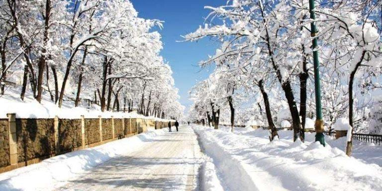 قوبا اذربيجان في الشتاء