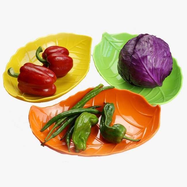 - طبق وجبة ملونة