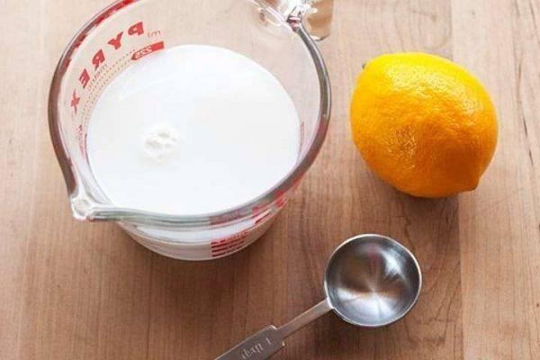 قناع الحليب الخالي من الدّهون واللّيمون