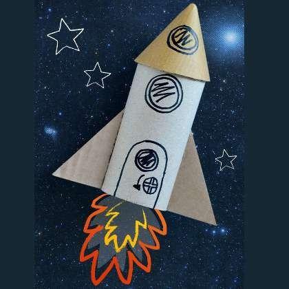 - مركبة فضائية من الورق المقوى