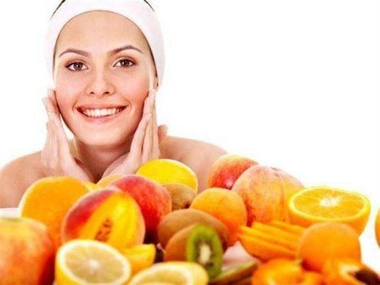 استخدام أقنعة الفواكه