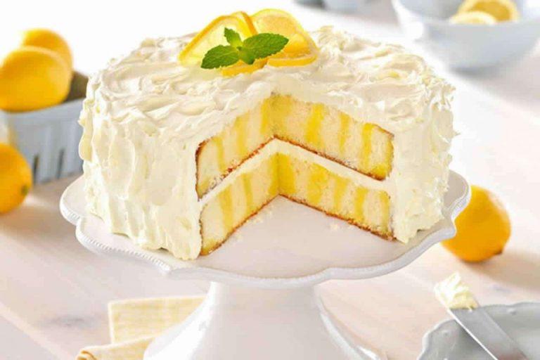 الوصفة الأولى تورتة الليمون مع كريمة الليمون