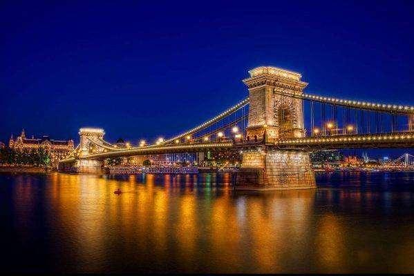 المشي عبر جسر السلسلة Chain Bridge ..