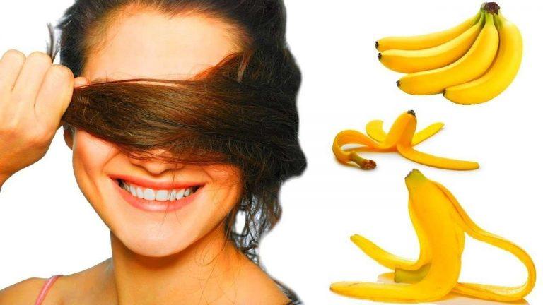 فوائد قشر الموز للشعر الخفيف