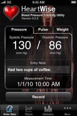 برنامج Heartwise Blood Pressure Tracker