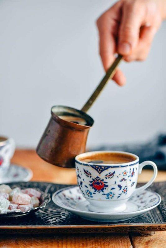 طريقة عمل التركية قهوة