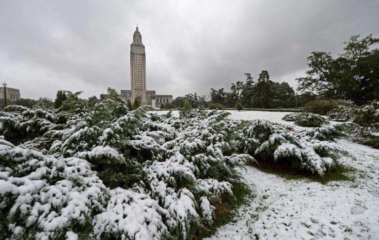 فصل الشتاء في مدينة باتون روج ولاية لويزيانا