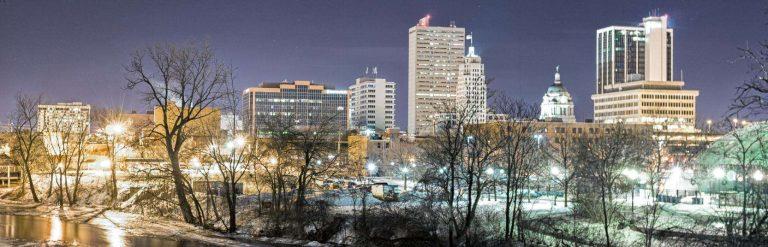 فصل الشتاء في مدينة فورت واين ولاية إنديانا