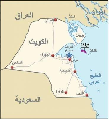 مساحة دولة الكويت وكثافتها السّكّانيّة
