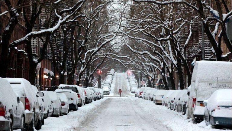 فصل الشتاء في مدينة ويجيتا ولاية كانزاس