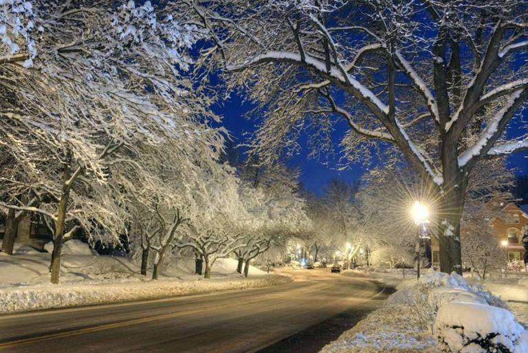 فصل الشتاء في مدينة روتشستر ولاية نيويورك