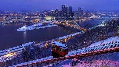 Photo of فصل الشتاء في مدينة بيتسبرغ ولاية بنسيلفانيا