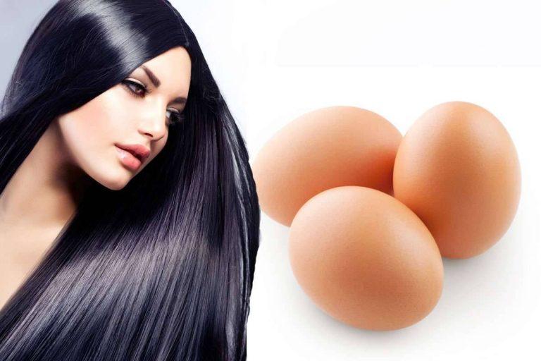 فوائد غسل الشعر بالبيض