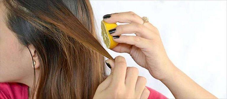 فوائد غسل الشعر بالليمون