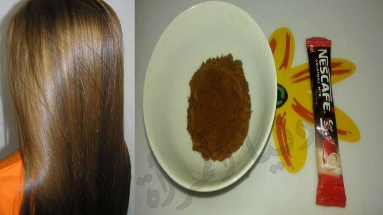 فوائد غسل الشعر بالنسكافيه