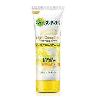 Garnier Skin Naturals Light Complete White Speed Fairness Face Wash - فوائد وأضرار غسول غارنييه