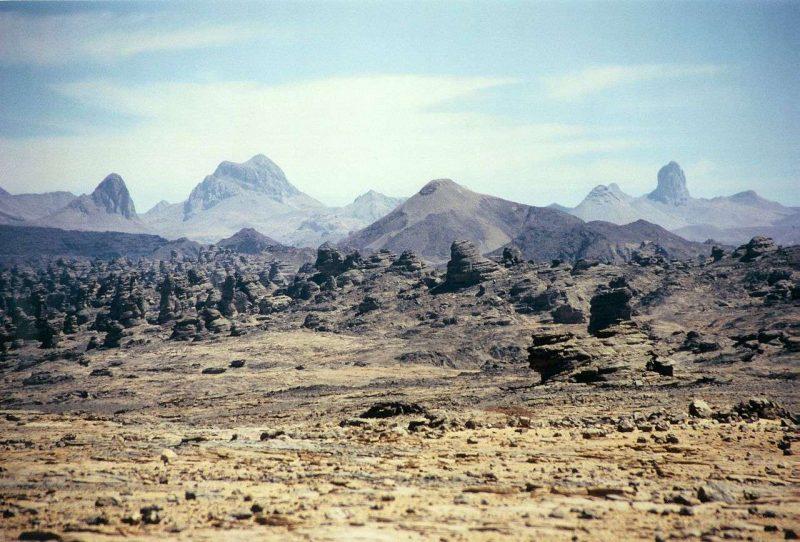 جبال تيبستي في تشاد