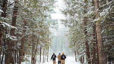 Photo of فصل الشتاء في ولاية مين الأمريكية