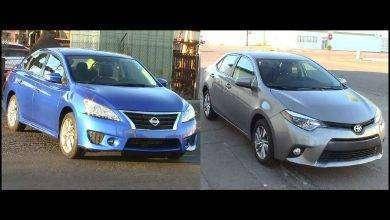 Photo of مقارنة بين سيارة نيسان سنترا وتويوتا كورول