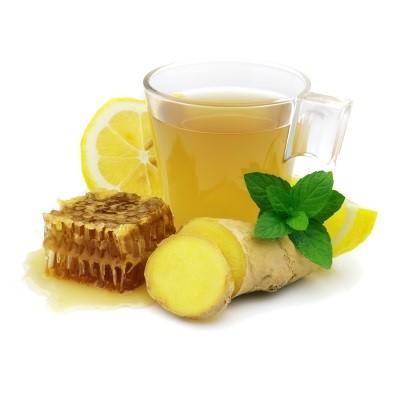 -الزنجبيل والعسل والليمون في الماء