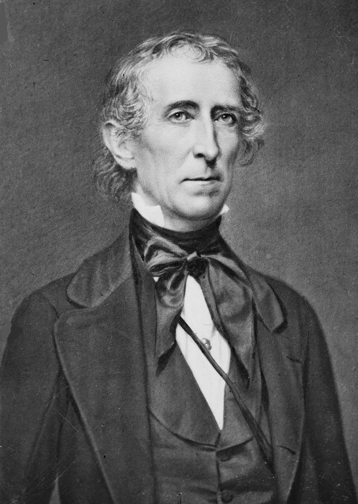 صورة سيرة ذاتية للرئيس الأمريكي جون تايلر 1841-1845م