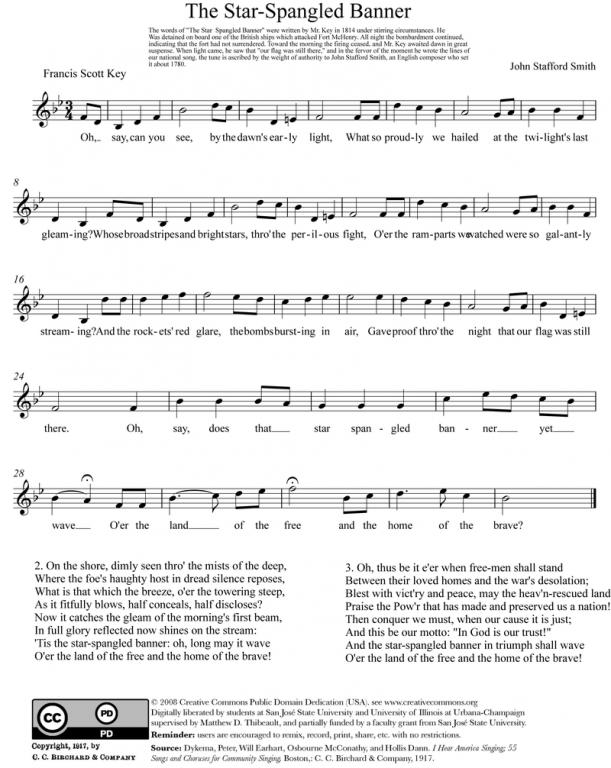 النشيد الوطني الامريكي