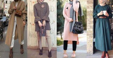 صور ملابس محجبات فصل الشتاء 2020